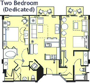 Disney vacation club beach club villas parkinfo2go for Animal kingdom 2 bedroom villa floor plan